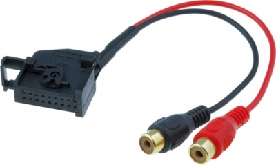 AUX Line IN adapter VW, Audi MFD2.18pin - 2xRCA