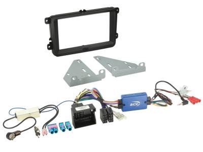 Zestaw montażowy 2 DIN Skoda, Seat, VW LFB z adapterem anteny 3 różne modele