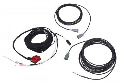 Zestaw kabli do kamery cofania dla Audi A3 8V, VW CC, Sharan 7N, Tiguan 5N