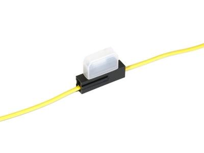 Oprawa bezpiecznika nożowego. Przewód 0,75mm2 żółty
