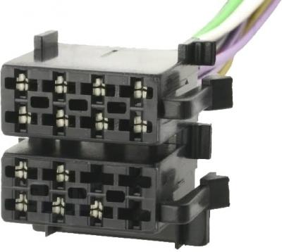 Wtyk ISO głośnikowy + zasilający (5pin+8pin)-zespolony
