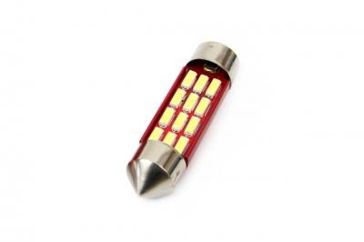 Żarówka LED CANBUS 12SMD 4014 Festoon 36mm White 12V/24V