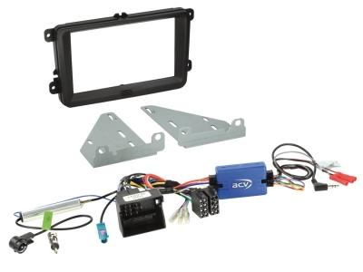 Zestaw montażowy 2 DIN Skoda, Seat, VW LFB z adapterem anteny