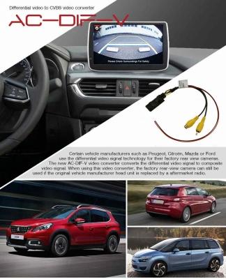 Różnicowy konwerter wideo na CVBS Mazda, Peugeot, Citroen, Ford