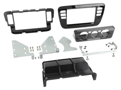 Ramka radiowa 2 DIN Seat Mii, Skoda Citigo 2011 ->, VW up! 2011 - 2016 czarna błyszcząca