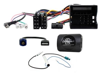 Adapter do sterowania z kierownicy Citroen Dispatch, Spacetourer 2016->  CTSCT013.2 Bez czujników parkowania i oryginalnego radia 1 Din.