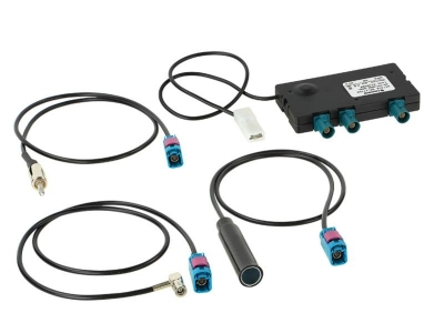 Antena aktywna splitter radiowy; AM/FM/DAB/DAB; zestaw