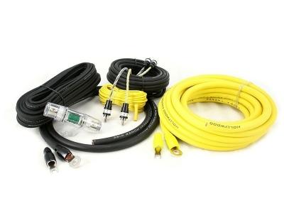 Zestaw kabli do wzmacniacza samochodowego Hollywood PRO-24 - seria PRO OFC