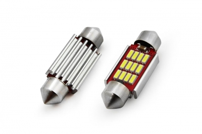 Żarówka LED CANBUS 12SMD 4014 Festoon 39mm White 12V/24V