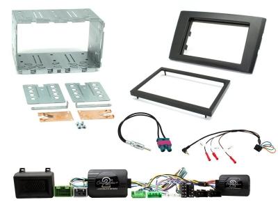 Zestaw montażowy 2 DIN Volvo XC90 2002 - 2014 oryginalny wzmacniacz + czujniki parkowania