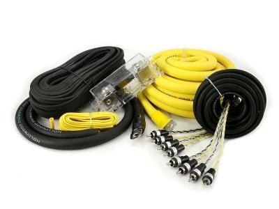 Zestaw kabli do wzmacniacza samochodowego Hollywood PRO-40 - seria PRO OFC