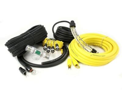 Zestaw kabli do wzmacniacza samochodowego Hollywood PRO-44 - seria PRO OFC