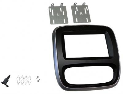 Ramka radiowa 2 DIN Opel Vivaro ,Renault Trafic ,Fiat Talento, Nissan NV300 2014->  CZARNO-SREBRNY