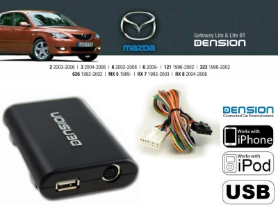 Cyfrowa zmieniarka Dension USB,iPod,iPhone,AUX - Mazda 12 PIN