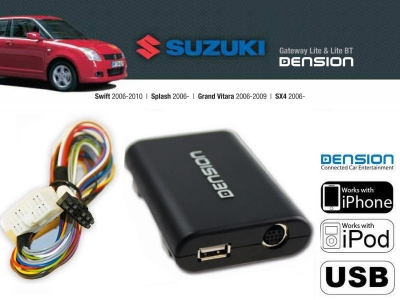 Cyfrowa zmieniarka Dension USB,iPod,iPhone,AUX - Suzuki, Splash, SX4