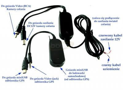 Moduł bezprzewodowy 2,4 GHz do kamery cofania GPS