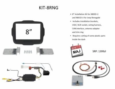 Zestaw montażowy 2DIN dla Alpine X800D-U/X801D-U