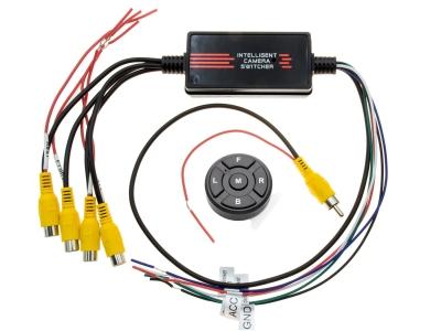 Przełącznik wideo samochodowy  dla 4 kamer