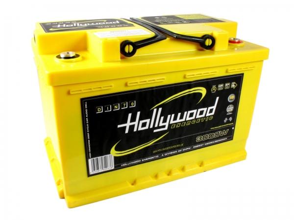 Akumulator Hollywood DIN-70 12V, 3000W, 70Ah