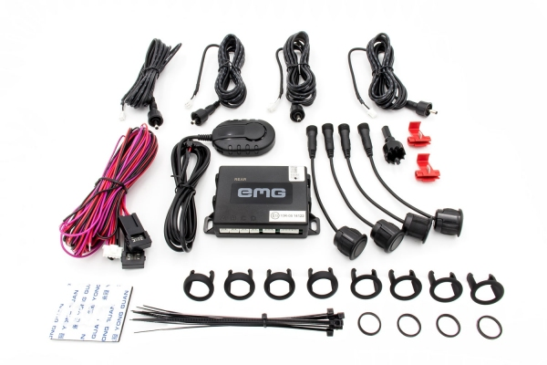 Czujniki parkowania EMG-PS41 - 4 sensorowy zestaw na tylny zderzak