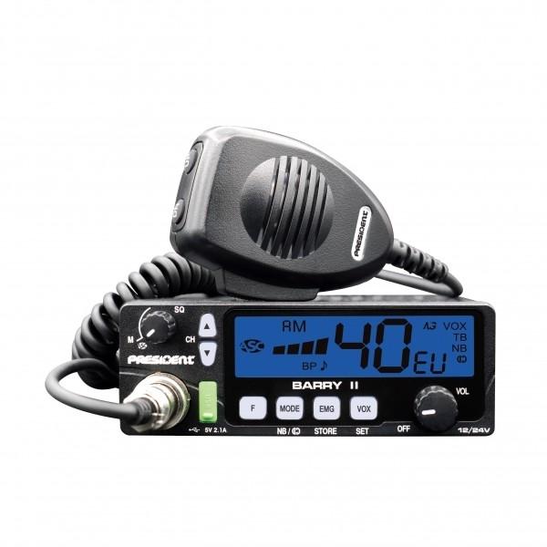 CB Radio President BARRY II ASC/VOX 12/24 V