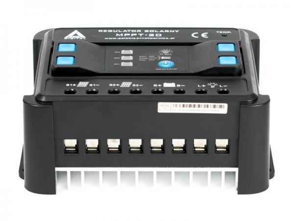 Solarny regulator ładowania MPPT 12/24 - 20A